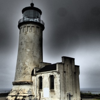 North Head Lighthouse in darker weather