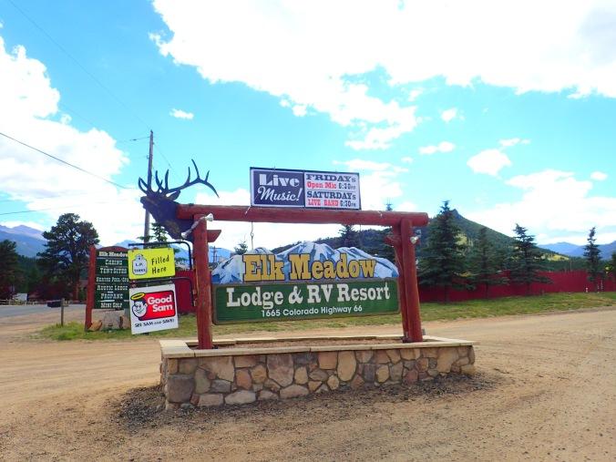 Elk Meadow sign