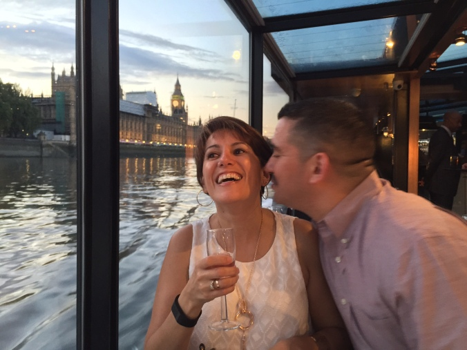 Celebrating Linda's Birthday with a Thames River Dinner Cruise