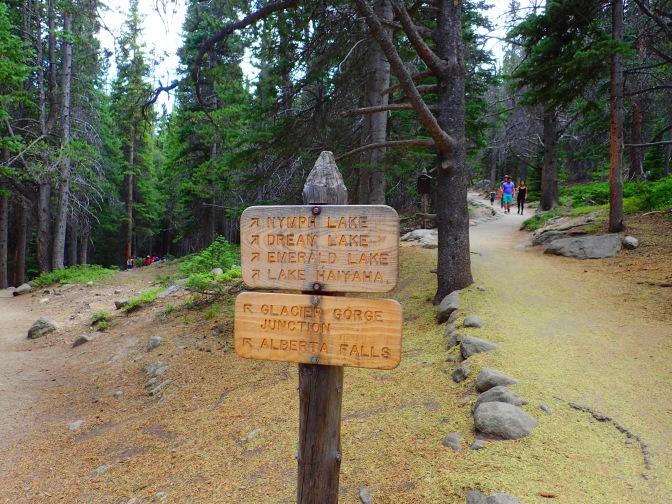 Lake hike sign