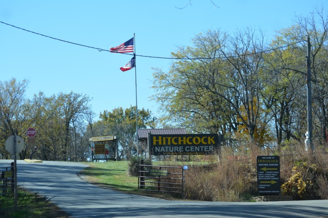 Hitchcock Nature Center sign