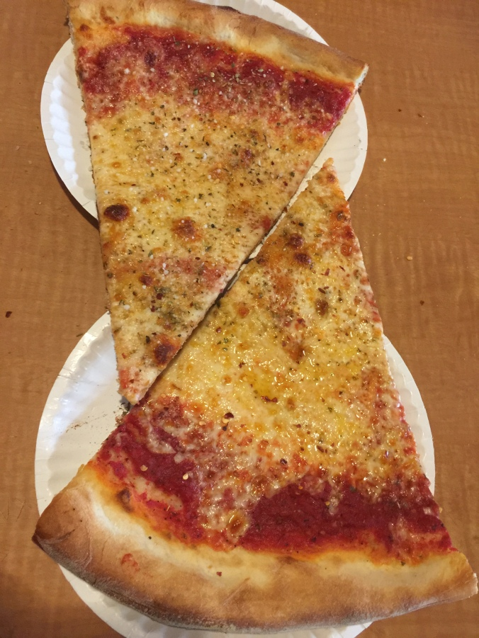 Slices from Steve's don't fit on a single plate
