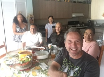 With Xavier, Joy, Uncle Carlos and Auntie Joan