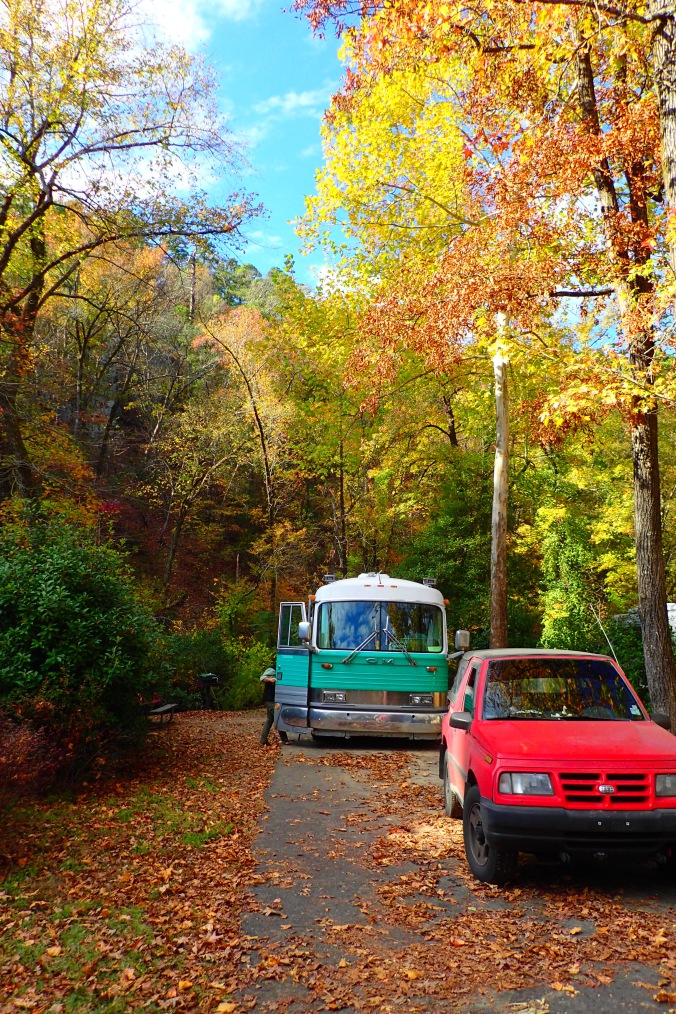 One of our two spots in Gulpha Gorge campground