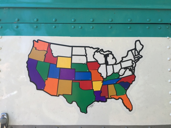 The Big Kahuna made it to all of these states, but just couldn't quite get us back around to Florida to end the year.