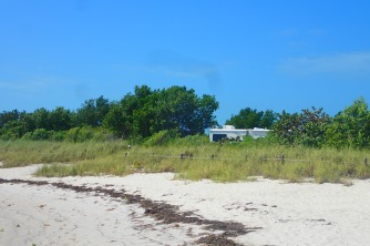Our site viewed from the beach
